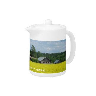 フィンランドの田舎カスタムのティーポット