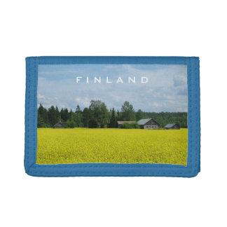 フィンランドの田舎カスタムの札入れ ナイロン三つ折りウォレット