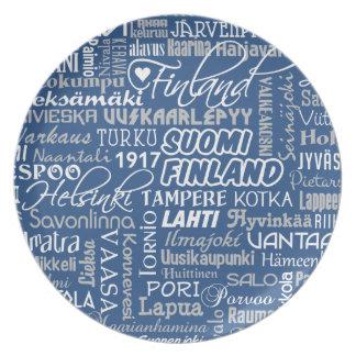 フィンランドの町のプレート プレート