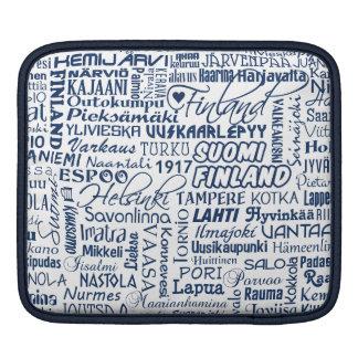 フィンランドの町のiPadの袖 iPadスリーブ