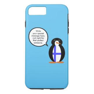 フィンランドの話すペンギンの旗 iPhone 8 PLUS/7 PLUSケース