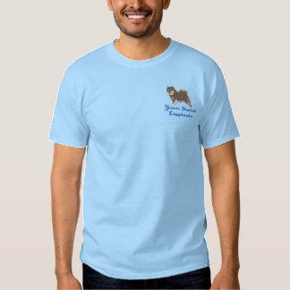 フィンランドのLapphund -茶色のlappyのTシャツ 刺繍入りTシャツ