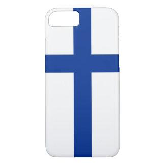 フィンランドのsuomiの国旗の箱 iPhone 8/7ケース