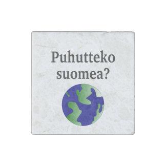 フィンランドを話しますか。 フィンランド。 地球を使って ストーンマグネット