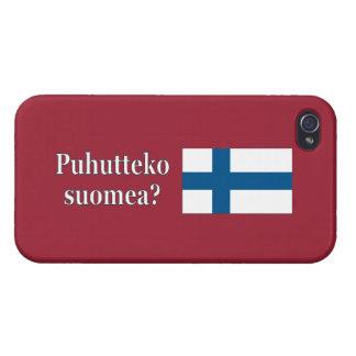 フィンランドを話しますか。 フィンランド。 旗のwf iPhone 4/4Sケース