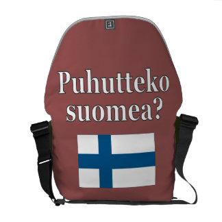 フィンランドを話しますか。 フィンランド。 旗 クーリエバッグ