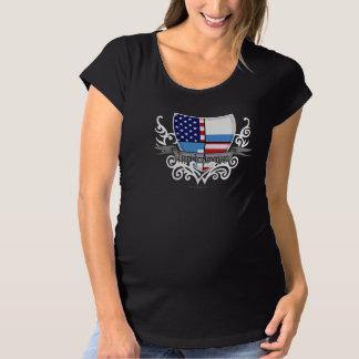 フィンランドアメリカの盾の旗 マタニティTシャツ