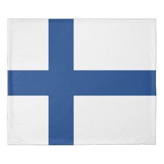 フィンランド青い十字のSuomiの旗 掛け布団カバー