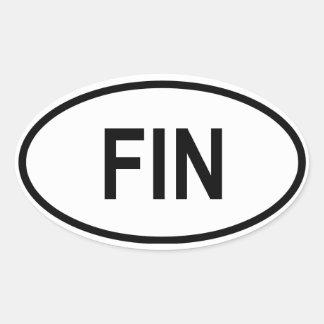 """フィンランド""""ひれ"""" 楕円形シール"""