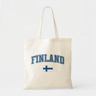 フィンランド + 旗 トートバッグ