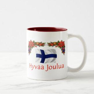 フィンランドHyvaa Joulua (メリークリスマス) ツートーンマグカップ