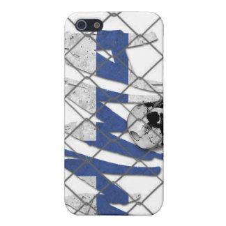 フィンランドMMAのスカルの白のiphone 4ケース iPhone 5 ケース