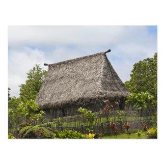 フィージーのビティレブー島の島。 ポリネシアの文化 ポストカード