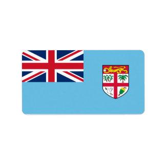 フィージーのラベルの旗 ラベル