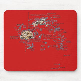 フィージーの地図のマウスパッド マウスパッド