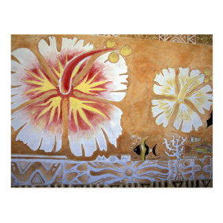 フィージーの壁画art. ポストカード