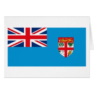 フィージーの旗の挨拶状 カード