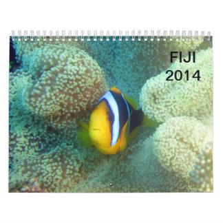 フィージー水中2014年 カレンダー