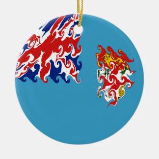 フィージー|すごい|旗 クリスマスツリーオーナメント