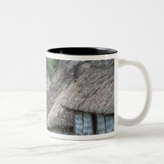 フィージー、Vitiの伝統的な小屋の家 ツートーンマグカップ
