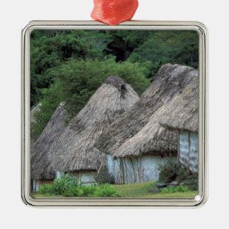 フィージー、Vitiの伝統的な小屋の家 メタルオーナメント