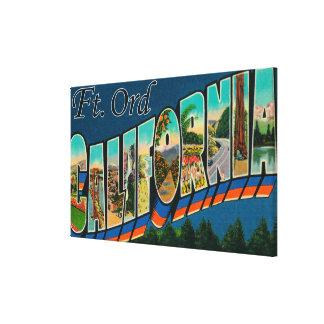 フィートOrd、カリフォルニア-大きい手紙場面 キャンバスプリント