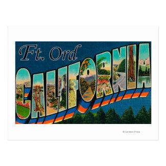 フィートOrd、カリフォルニア-大きい手紙場面 ポストカード