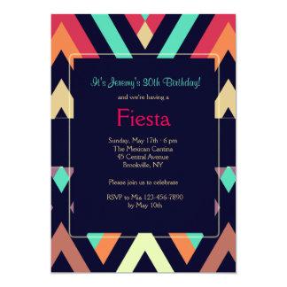 フェスタのシェブロンの招待状 カード
