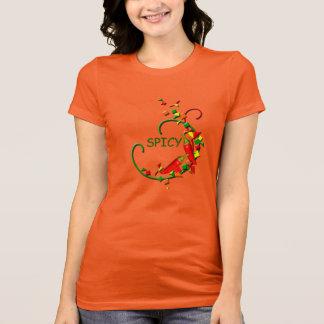 フェスタのチリペッパーのパーティーの女性オレンジのTシャツ Tシャツ