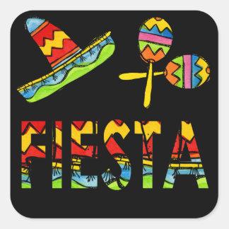 フェスタのパーティーのソンブレロのMaracaのメキシコステッカー スクエアシール