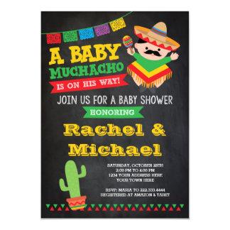 フェスタのベビーシャワーの招待状、ベビーMuchacho カード