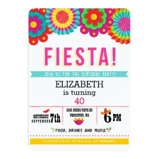 フェスタのメキシコ人のパーティの招待状 カード
