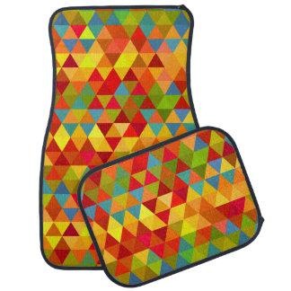フェスタの三角形パターンカーマット カーマット