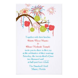 フェスタの不思議の国の結婚式招待状 便箋