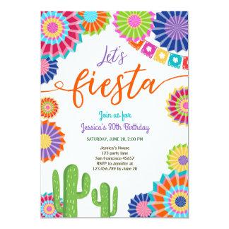 フェスタの招待のメキシコ誕生日30の女性は カード