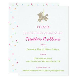 フェスタのPiñataのおもしろいの卒業のパーティの招待状 カード