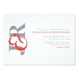 フェスタ|のモダンなモノグラムの結婚式招待状 12.7 X 17.8 インビテーションカード