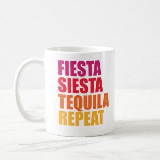 フェスタ、昼寝、テキーラのバチェロレッテの休暇 コーヒーマグカップ