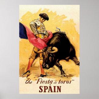 フェスタDe Torosスペイン ポスター
