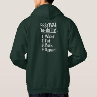 フェスティバルの`の大騒ぎの」リスト(白い) パーカ