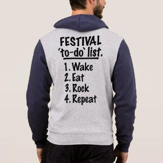 フェスティバルの`の大騒ぎの」リスト(blk) パーカ
