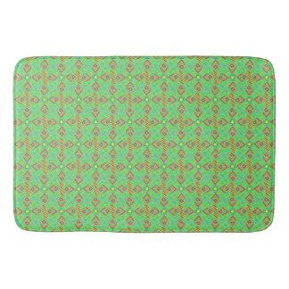 フェスティバルパターン緑かミント バスマット