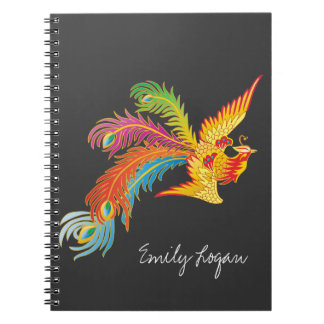 フェニックスの名前入りなデザイン ノートブック