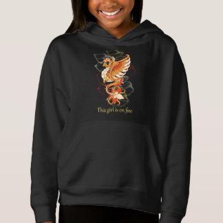 フェニックスの女の子のプルオーバーのフード付きスウェットシャツ