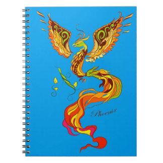フェニックスの明るい炎の絵 ノートブック