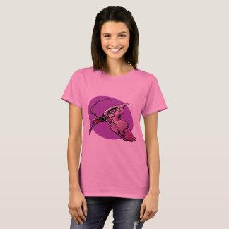 フェニックスの未来派の鳥の漫画のスタイルのイラストレーション Tシャツ