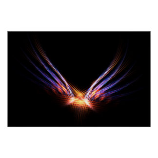 フェニックスの火の鳥のプリント ポスター