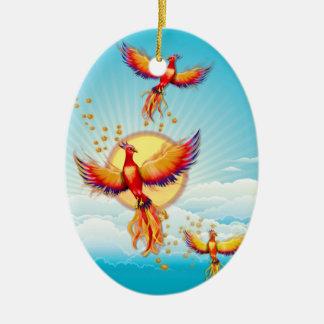 フェニックスの火の鳥の上昇 セラミックオーナメント