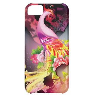 フェニックスの美しい鳥のカラフルな背景 iPhone5Cケース