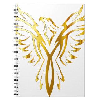 フェニックスの金ゴールド ノートブック